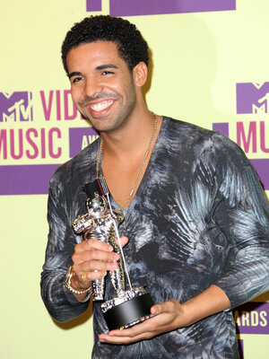 Drake, who had the top torrent downloaded in the U.S. in the first half of 2012, according to Musicmetric, poses at the MTV Video Music Awards in September.
