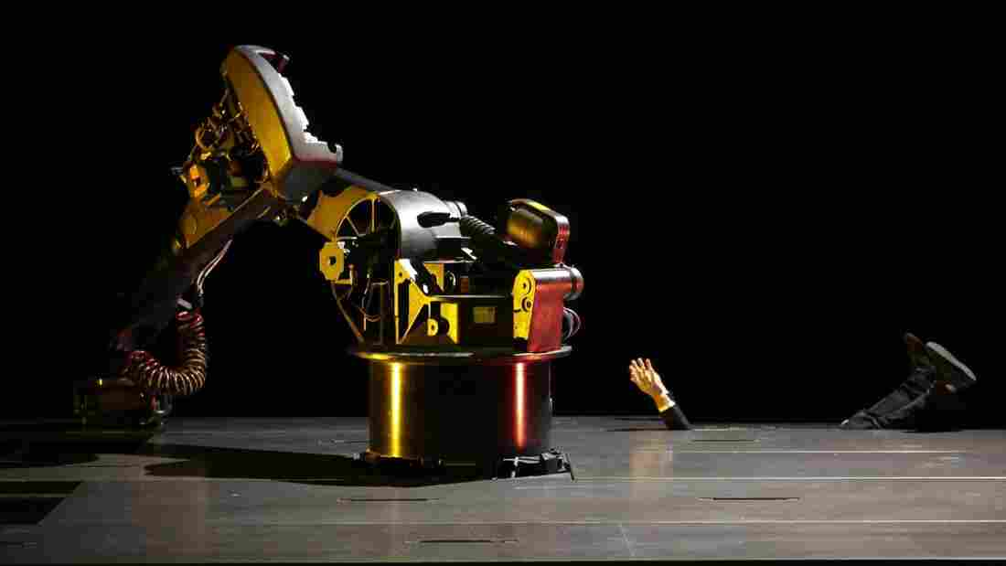 KUKA, an industrial robot developed in the '