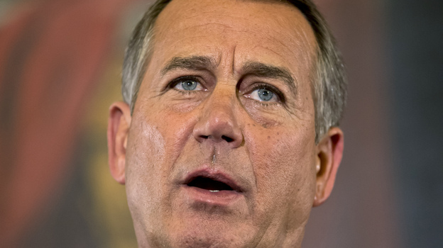 "Speaker John Boehner, R-Ohio, said Wednesday that House Republicans are willing to accept new revenues ""under the right conditions."" (AP)"