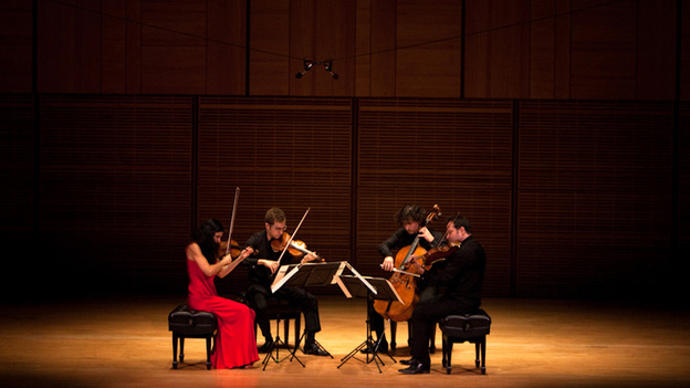 The players in the Belcea Quartet played a series of late Beethoven string quartets at Carnegie Hall's Zankel Hall. (NPR)
