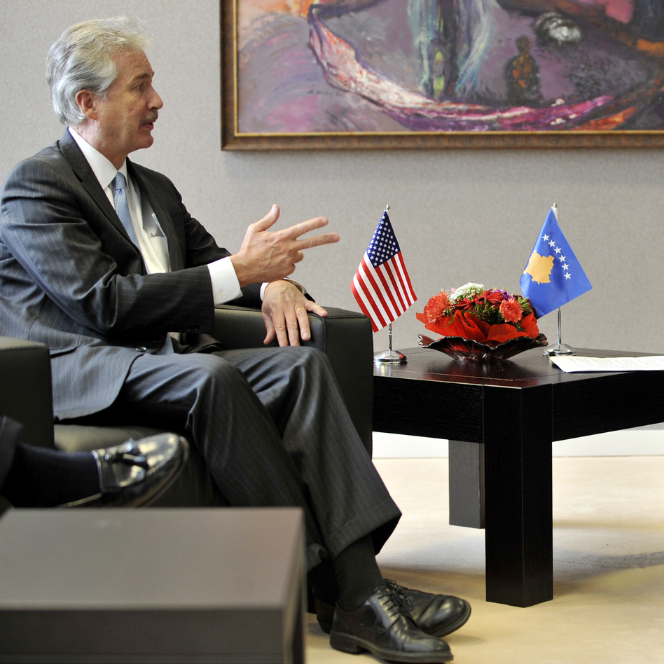 Deputy Secretary of State William Burns (left) could be up for a promotion. (AFP/Getty Images)