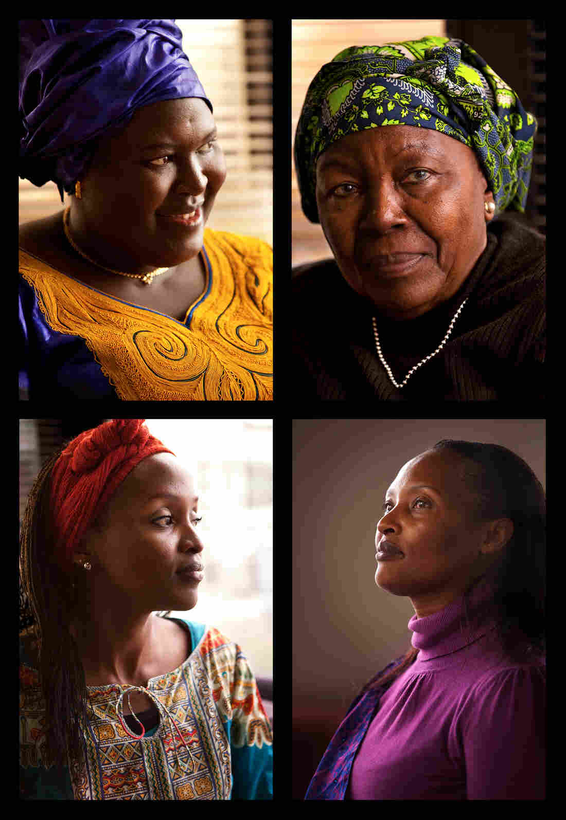 These four women are at the forefront of change, empowering other women in the coffee industry (clockwise from top left): Angele Ciza, Fatima Aziz Faraji, Immy Kamarade and Mbula Musau.