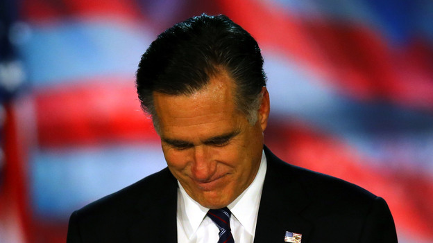 Mitt Romney concedes the presidency early Wednesday in Boston. (Getty Images)