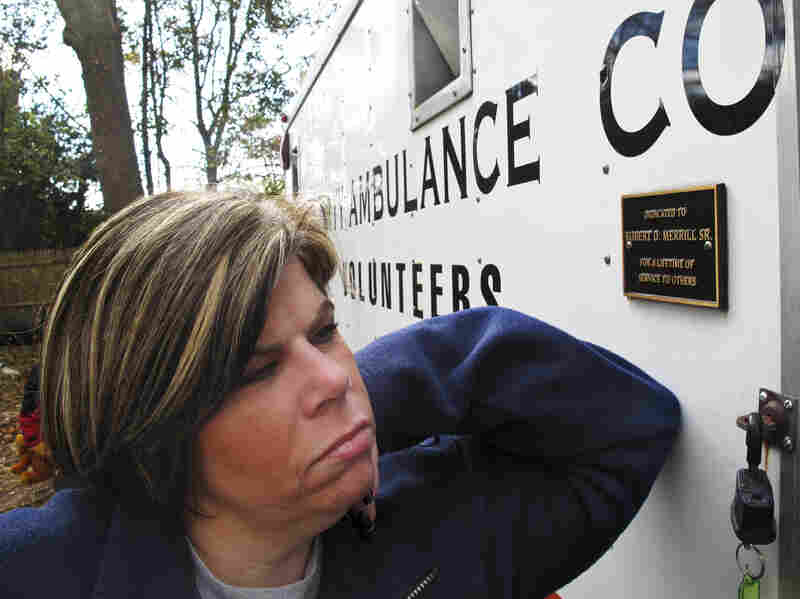 Patty Manfredonia, president of a volunteer ambulance company in Sayville, N.Y., has been collecting blankets for Long Island residents without power. A new storm Wednesday is already causing new outages.