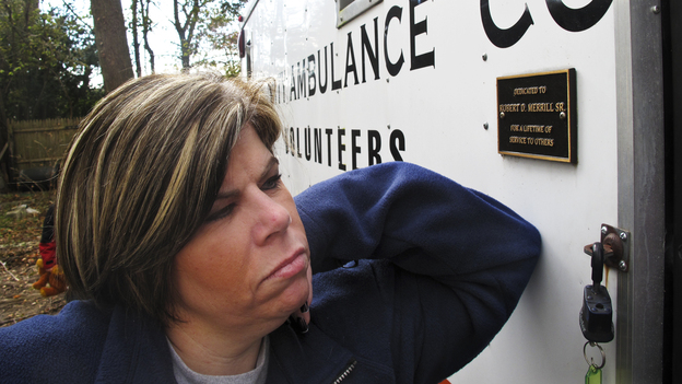 Patty Manfredonia, president of a volunteer ambulance company in Sayville, N.Y., has been collecting blankets for Long Island residents without power. A new storm Wednesday is already causing new outages. (NPR)