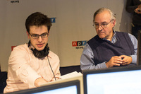 Partisan analysts (l to r) Matt Continetti (The Washington Free Beacon, The Weekly Standard) and E.J. Dionne (Washington Post, The Brookings Institution) work alongside NPR journalists to analyze and offer a party perspective on election results.