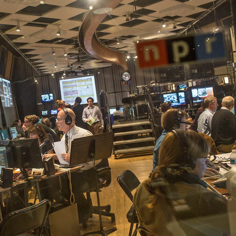 A view into the NPR Newsroom.