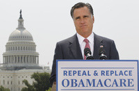 In June, former Massachusetts Gov. Mitt Romney was making the case for the repeal of the administration's health law. With his defeat, the law is looking secure.