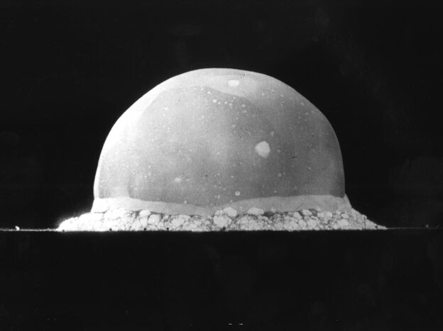 The relationship between science and the government shifted dramatically in the wake of World War II, when the fruits of basic research resulted in an applied technology that changed the course of the war and world forever. Above, a nuclear explosio