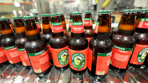 A growing number of U.S. consumers are finding much to enjoy in this fruity alcoholic beverage, driving an increase in cider sales. The Vermont Hard Cider Company now produces 70,000 cases of Woodchuck Hard Cider each week. (Vermont Hard Cider Company)