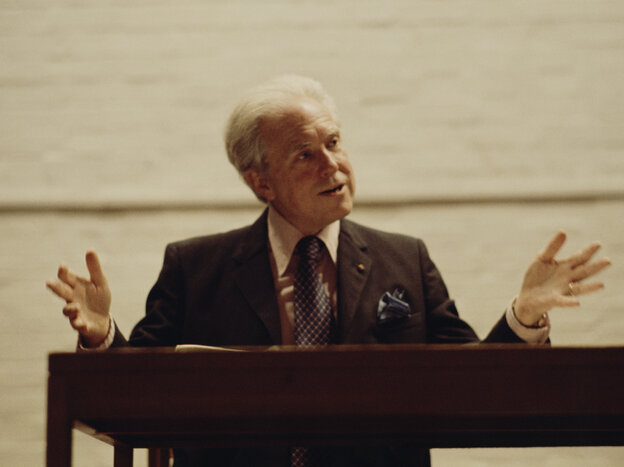 American composer Elliott Carter, circa 1975. He died this Monday at age 103.