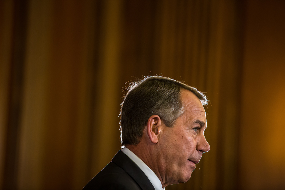 House Speaker John Boehner (R-OH) makes remarks on Capitol Hill on Wednesday.