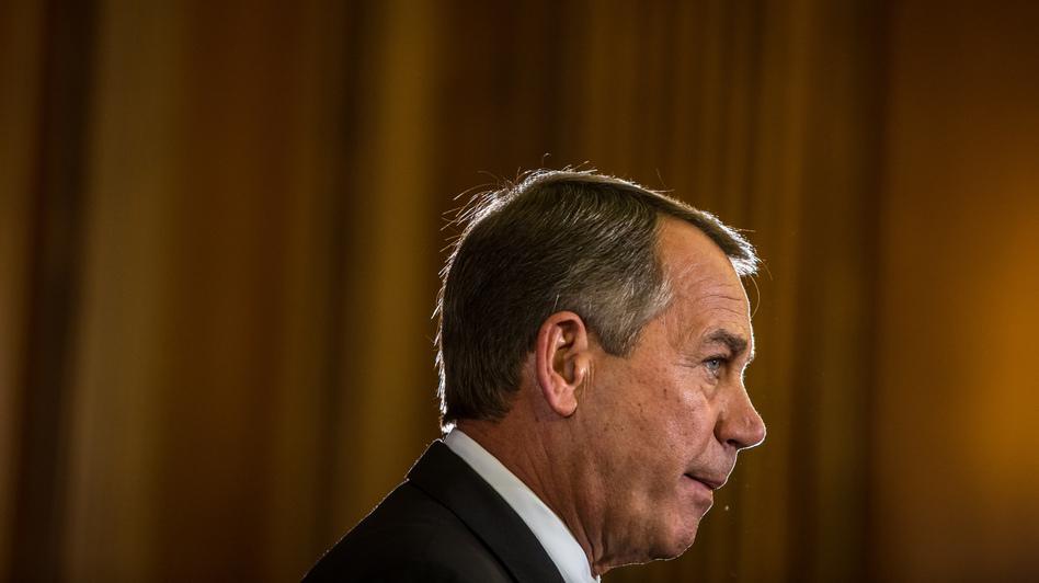 House Speaker John Boehner (R-OH) makes remarks on Capitol Hill on Wednesday. (Getty Images)
