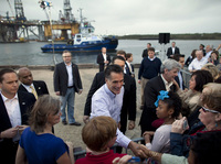 Republican presidential candidate Mitt Romney told a crowd in Pascagoula, Miss., in March that he was
