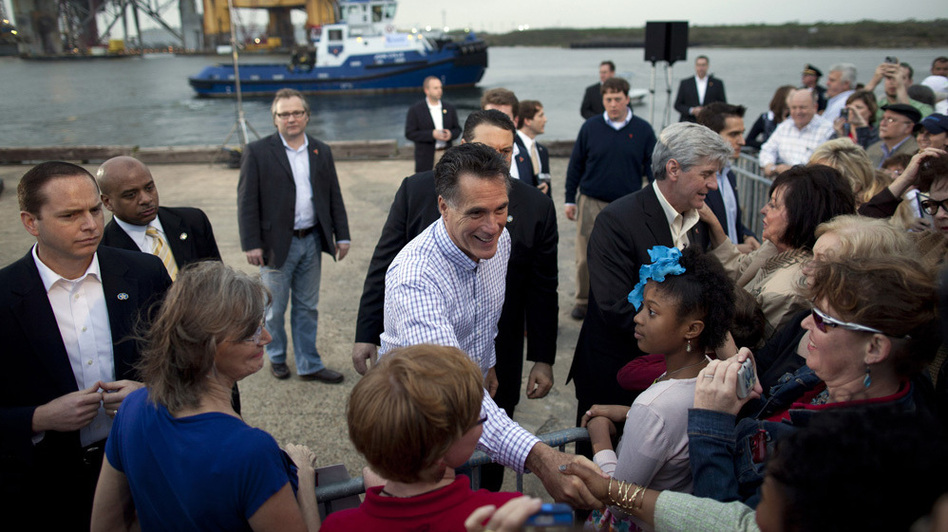 "Republican presidential candidate Mitt Romney told a crowd in Pascagoula, Miss., in March that he was ""learning to say 'y'all' and I like grits."" (AP)"