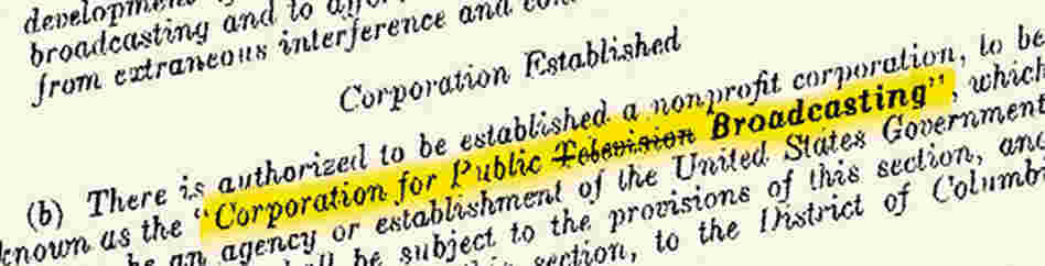 Text from the Public Broadcasting Act of 1967.