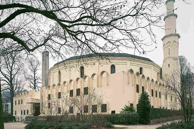 Grand Mosque (Great Mosque of Brussels), Location: Brussels, Belgium, Architect: Ernest Van Humbeek, Tunisian Boubaker