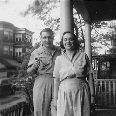 Aunt Ida and Uncle Julie in Winthrop Beach, Mass., in the 1940s.