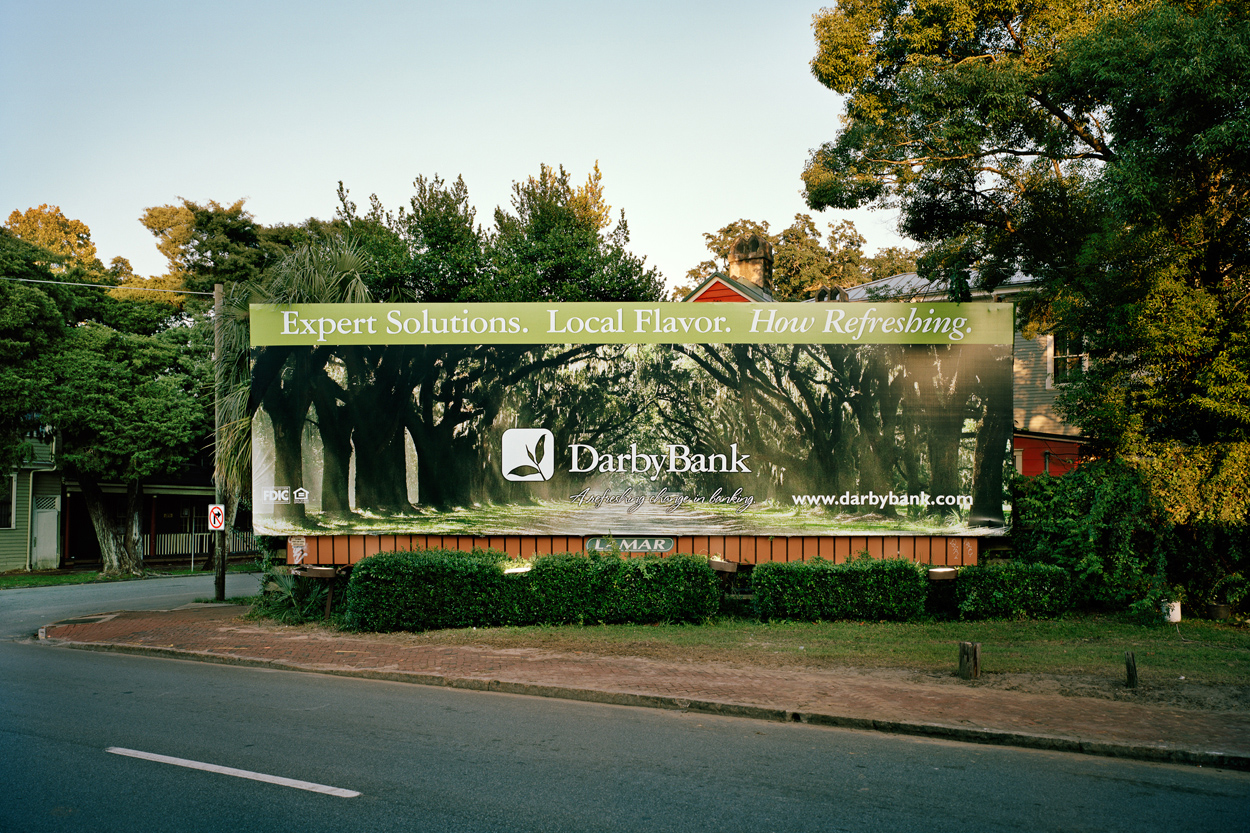 Billboard With Trees, Savannah, Ga., 2008