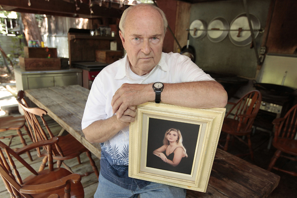 Mike Reynolds authored California's three-strikes law after his daughter, Kimber, was killed in a 1992 purse snatching. On Tuesday, Californians approved a ballot initiative that weakens the law — a measure Reynolds opposed. (Rich Pedroncelli/AP)