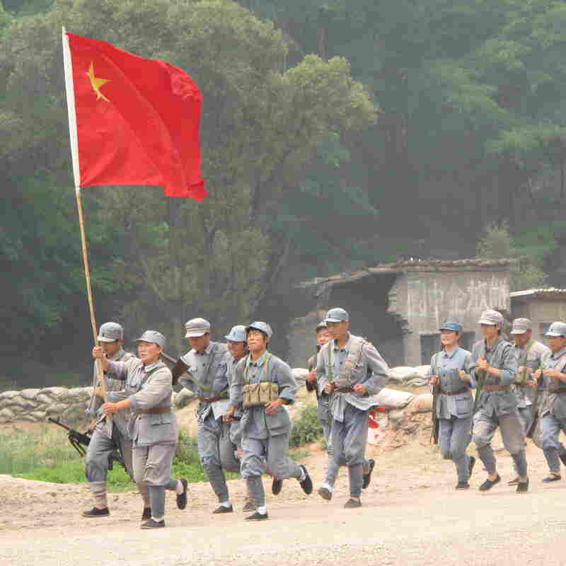 """The Defense of Yan'an"" re-enacts a 1947 battle to protect Mao Zedong's Communist stronghold during the Chinese Civil War from the Nationalists, who fled to Taiwan."