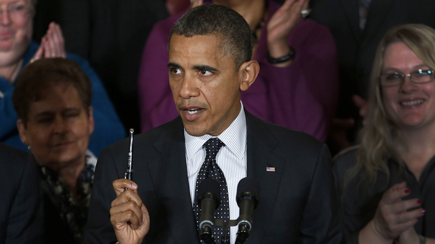 President Obama speaks about the economy and the deficit Friday in the East Room of the White House. (AP)