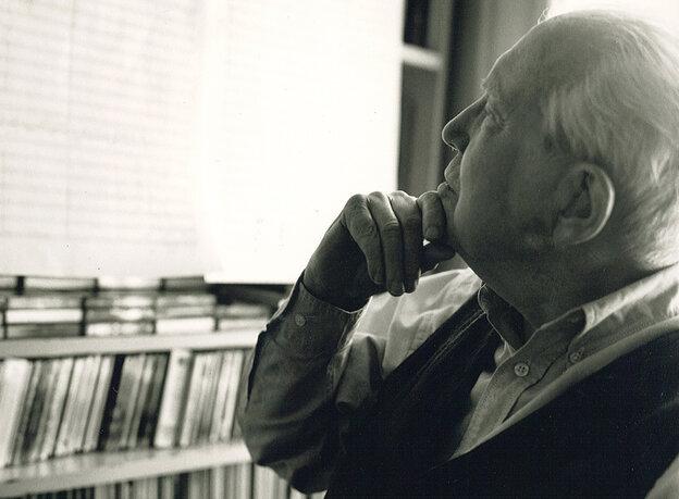 Composer Elliott Carter, who died on Nov. 5 at age 103.