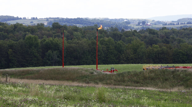 Shell burned off gas from June through August at the Morse well pad in Bradford County, Pa., to prevent natural gas from leaking to the surface after one of its drilling sites intersected an abandoned gas well.