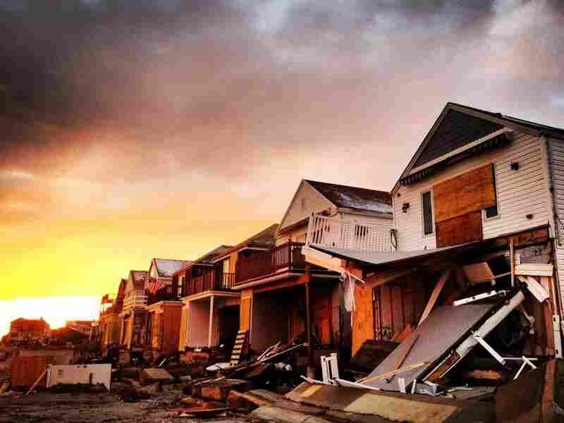 Rockaway Beach, in the Queens borough of New York City, after Superstorm Sandy.