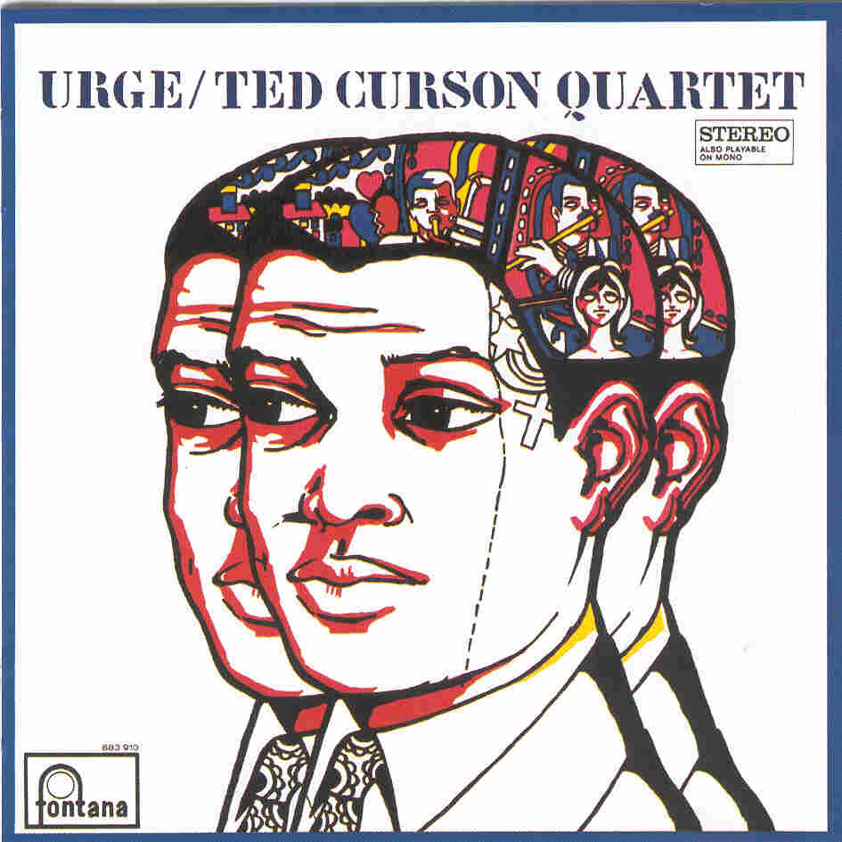 Trumpeter Ted Curson, depicted here on the cover of his album Urge, died last Sunday morning.