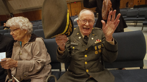 This month, a symphony composed by World War II veteran Harold Van Heuvelen had its premiere. (Kevin Gift)