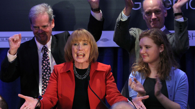 Maggie Hassan was elected governor of New Hampshire on Tuesday, as the state also voted in the first all-female congressional delegation. (AP)