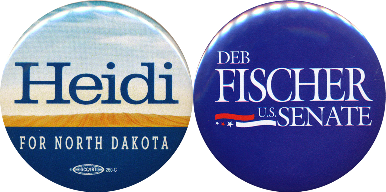 Heitkamp (D-N.D.) scored the biggest Senate upset of the night; Fischer (R-Neb.) was the lone GOP pickup.