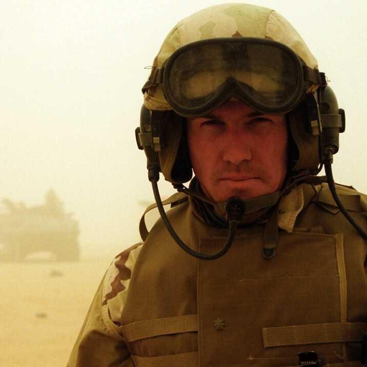 Essayist Benjamin Busch was an infantry officer in the United States Marine Corps.