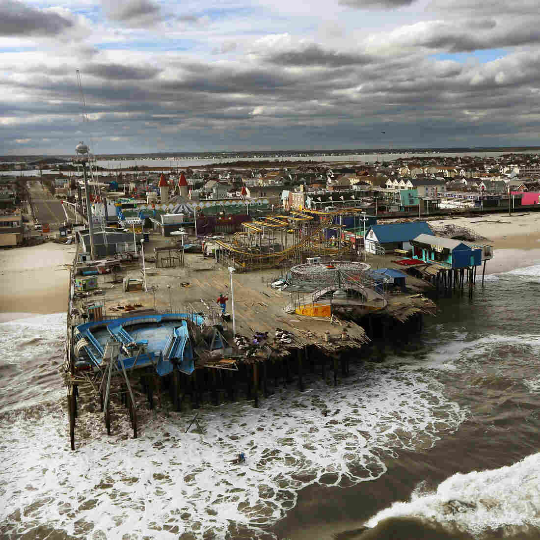 Beach Towns Mourn Sandy-Ravaged Boardwalks