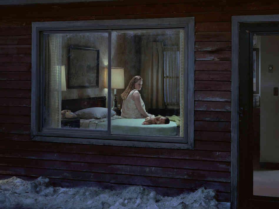"""Untitled (Birth)"" from Gregory Crewdson's Beneath The Roses series."