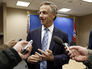Tennessee Gov. Bill Haslam said last week the state could design its own health insurance exchange required under President Obama's health care law. But