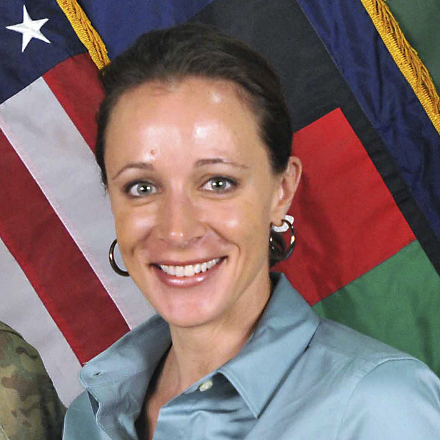 David Petraeus, while he was the top commander of U.S. and coalition forces in Afghanistan, and Paula Broadwell in July 2011. He resigned from his post as CIA director because of an extramarital affair they had.
