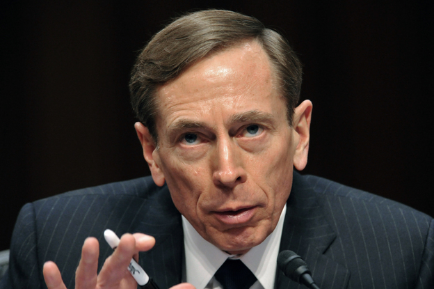 David Petraeus, then-CIA director, testifies before the Senate Intelligence Committee in January. Petraeus resigned Friday after acknowledging an extramarital affair.