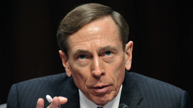 David Petraeus, then-CIA director, testifies before the Senate Intelligence Committee in January. Petraeus resigned Friday after acknowledging an extramarital affair. (AFP/Getty Images)