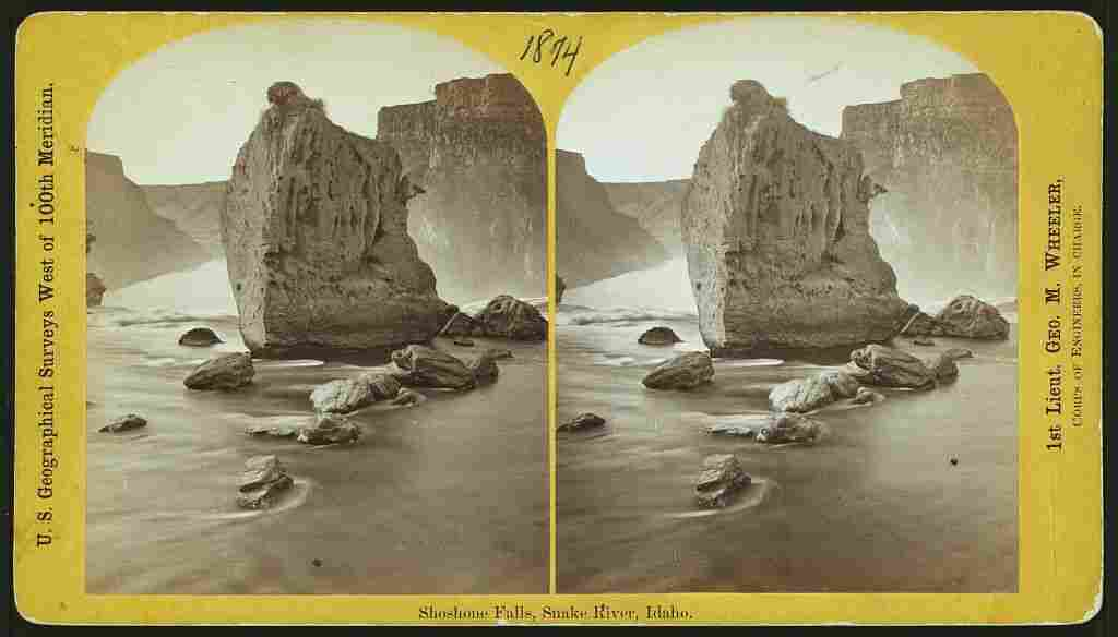 Shoshone Falls, Snake River, Idaho, 1874, from the western geological surveys