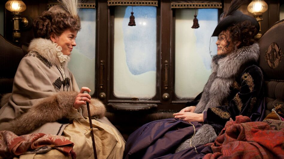 Leo Tolstoy's Countess Vronsky (Olivia Williams) and Anna (Keira Knightley) come to life in Joe Wright's adaptation of the classic Russian novel Anna Karenina. (Focus Features)