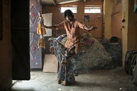 Kailash, a young puppeteer performs in the