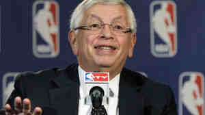 NBA Commissioner David Stern speaks during a basketball news conference on Oct. 25. Stern announced he will retire on Feb. 1, 2014.