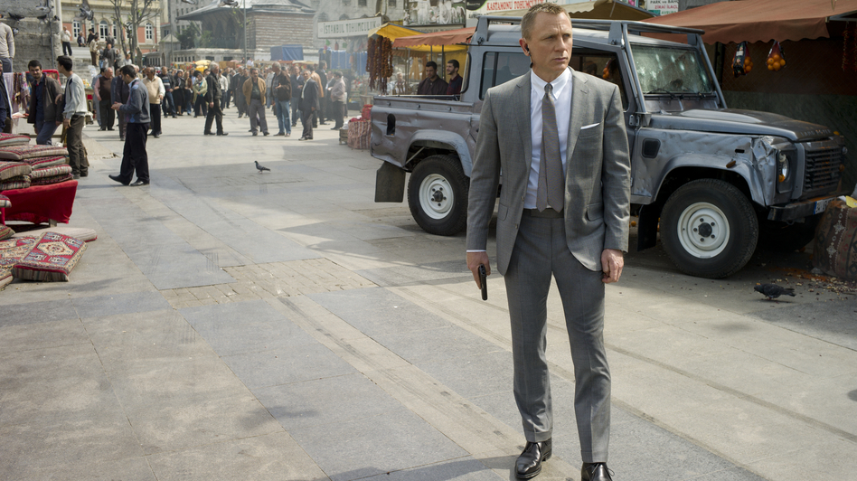 In his three Bond films, actor Daniel Craig has created a portrait of a darker, damaged 007 — evidence of the enduring character's mutability, according to Powers. (Sony Pictures)