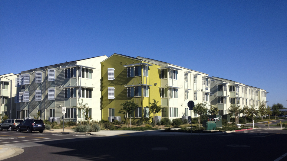 New energy-efficient dormitories at the University of California, Davis. (NPR)