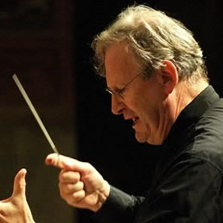 Conductor Sir John Eliot Gardiner.
