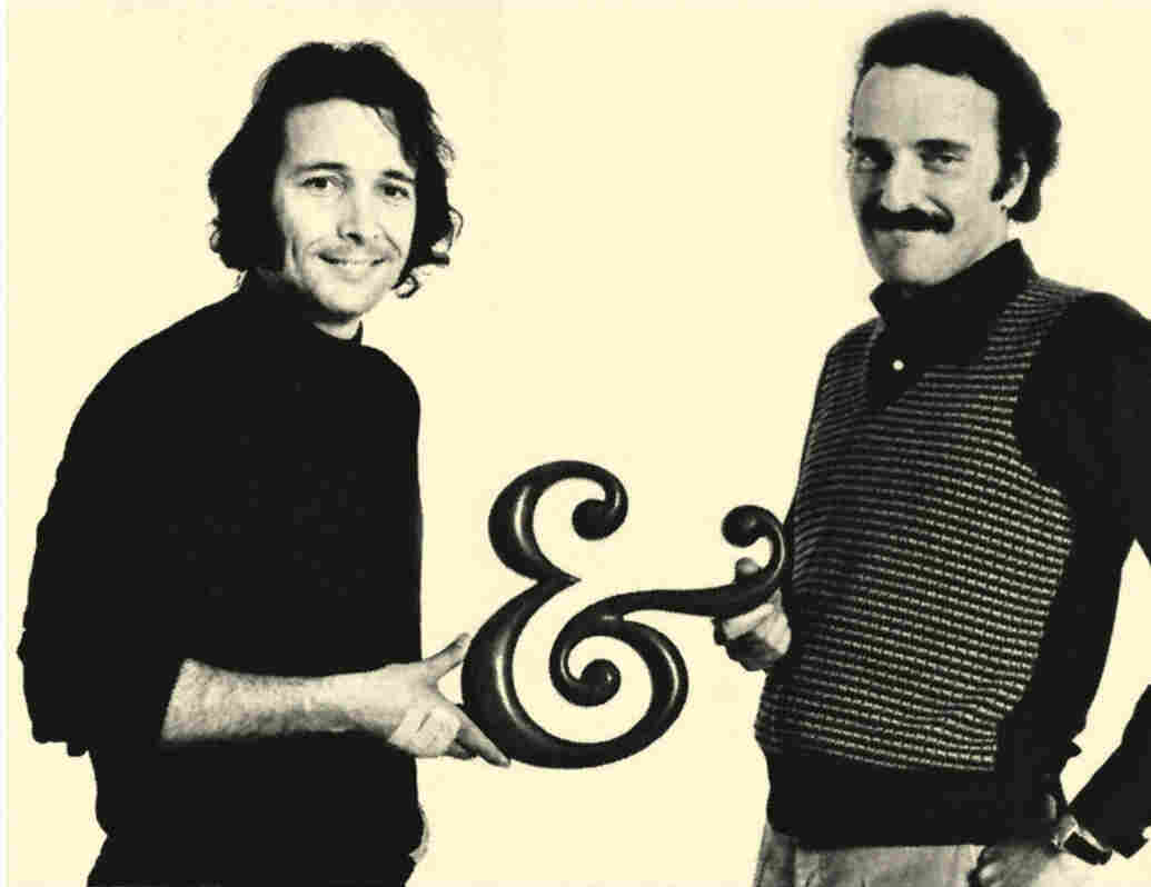 Herb Alpert (left) and Jerry Moss, who founded A&M Records in Alpert's garage in 1962.