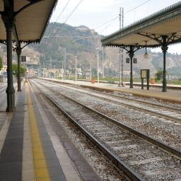 A train station in Italy.