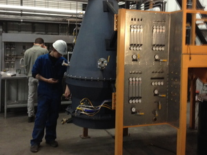 Sierra Energy is testing a reactor that makes fuel in a warehouse at an old Air Force base near Sacramento, Calif.